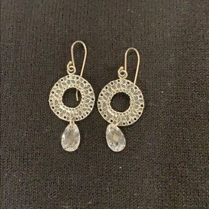 Silpada earring with drop Crystal